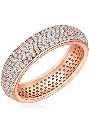 Nahla Damen-Ring rosevergoldet 925 Silber teilvergoldet Zirkonia Gr. 58 (18.5) - 601710805