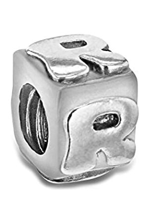 Tuscany Charms Sterling Silver R Cube Bead