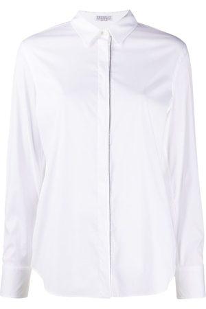 Brunello Cucinelli Verziertes Hemd