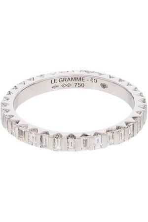 Le Gramme Herren Ringe - 18kt Weißgoldring in einer Balkenfassung