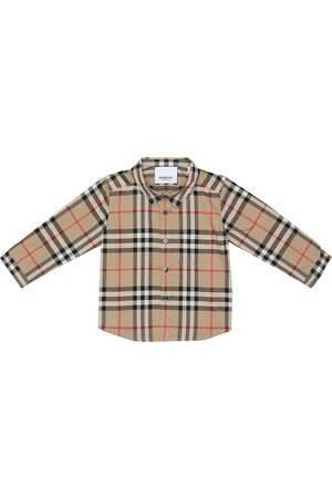 Burberry Baby Kariertes Hemd aus Baumwolle
