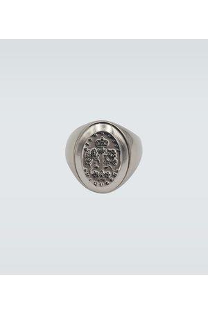 Alexander McQueen Siegelring aus Metall