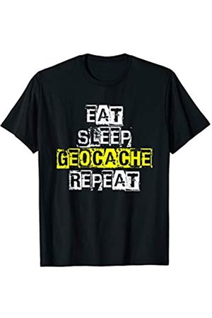 Funny Geocaching Apparel Eat Sleep Geocache Repeat - Funny Geocaching Gift T-Shirt