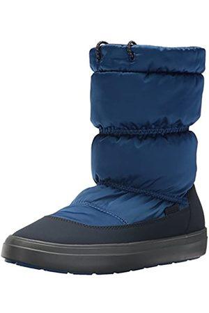 Crocs LodgePoint Shiny Pull-on Boot, Damen Schneestiefel, (Blue Jean/navy)