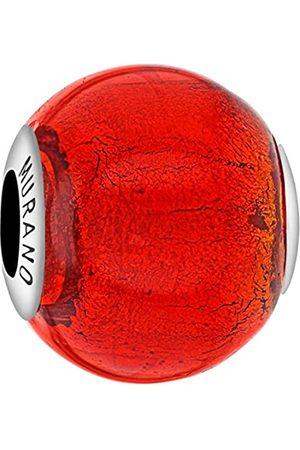 Tuscany Charms Sterling Silver Red Murano Bead