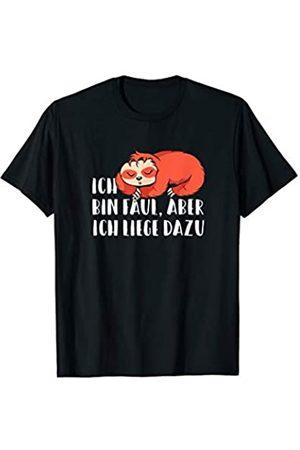 Immer ein frecher Spruch auf den Lippen GmbH Ich bin faul aber ich liege dazu - Lustiger Faultier Spruch T-Shirt