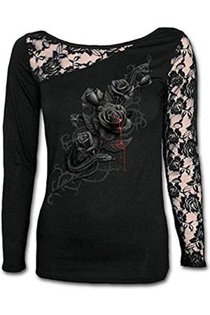 Spiral Damen Fatal Attraction-Lace One Shoulder Top Langarmshirt
