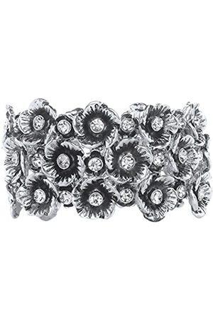 Front Row Damen-Armband Antiquefarben Kristalle Blumen