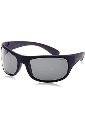 Polaroid Unisex Erwachsene Sonnenbrillen, (Matte Dark Blue/Grey Polarized)