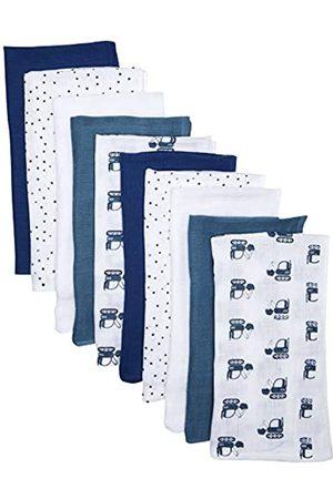 CARE LABEL 550286 Unisex Baby Halstuch , Multicolour (Dark Blue), One Size