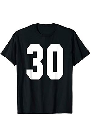 Rec League Team Sports Number Designs # 30 Team Sports Jersey Front & Back Number Player Fan T-Shirt