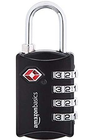 AmazonBasics – Kabel-Zahlenschloss, TSA-genehmigt, 4-stellig, 4 Stück