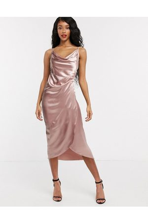 Flounce London – Club – Mini-Trägerkleid in Rosa