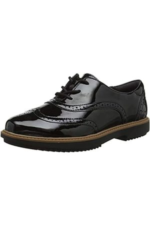 Clarks Damen Raisie Hilde Brogues, (Black Pat)