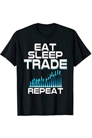 Lustige Aktien Forex Crypto Trader Kleidung Eat Sleep Trade Repeat - Lustiges Forex Crypto Trader T-Shirt