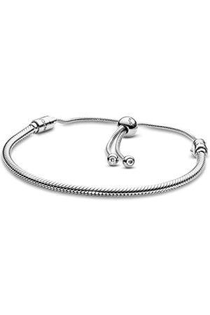 PANDORA Damen Moments Damen Moments Schlangen-Gliederarmband mit Schiebeverschluss Sterling
