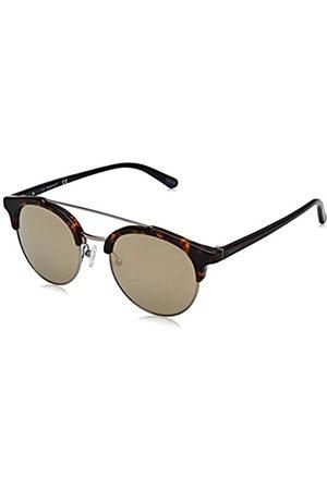 GANT Herren GA7112 Sonnenbrille, (Dark Havana/Green Mirror)