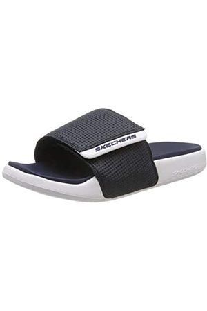 Skechers Men's GAMBIX 2.0 Open Toe Sandals, Blue (Navy/White NVW)
