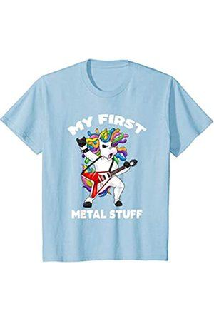 lustige heavy Metal Geschenk Shirts für Kinder Kinder Kind My first Metal Stuff Shirt Einhorn mein erstes Metal T-Shirt