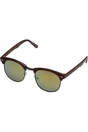 Desconocido Herren Gafa Retro Wood Sonnenbrille