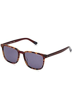 GANT Unisex-Erwachsene GA7111 Sonnenbrille, (Red Havana/Smoke Mirror)