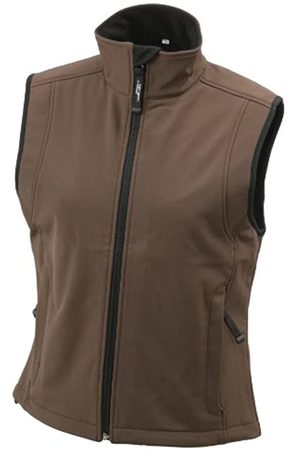 James & Nicholson Damen Jacke Softshellweste (brown) X-Large