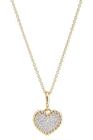 David Yurman 18kt 'Cable Collectibles' Gelbgoldhalskette mit Diamanten