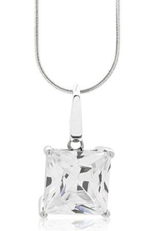 Burgmeister Damen-Halskette rhodinierter Zirkonia 925 Sterling Silber JHE1014-421