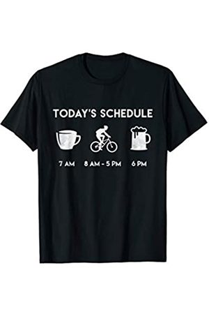 My Shirt Hub Funny Cyclist Gift Today Schedule Coffee Bike Cycling Beer T-Shirt