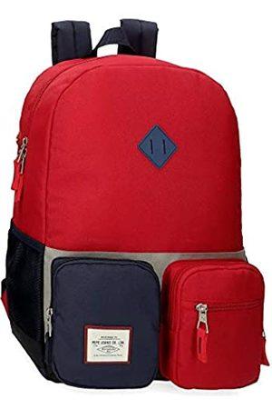 Pepe Jeans Jungen Dany Adaptable Backpack Schulrucksack (255red)