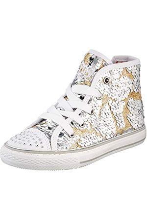 Primigi Mädchen ALTA Bambina Hohe Sneaker, (Argento-ORO 5457855)
