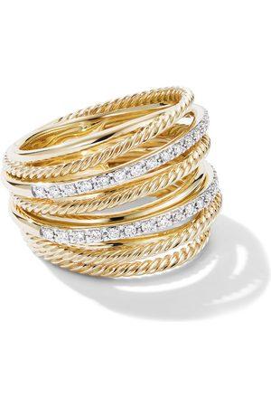 David Yurman 18kt 'Crossover' Gelbgoldring mit Diamanten