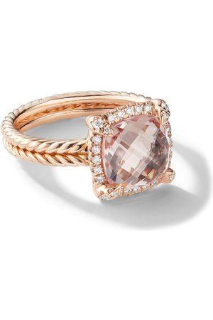 David Yurman 18kt 'Châtelaine' Rotgoldring mit Diamanten