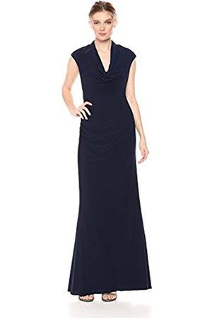 Adrianna Papell Damen Cowl Draped Jersey Long Dress Kleid