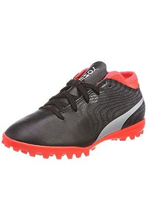 Puma Unisex-Kinder ONE 18.4 TT Jr Fußballschuhe, Black-Silver-Red Blast