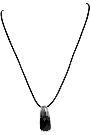 Akzent Damen-Anhnger Edelstahl mit Stoffkette 50cm 002600000152