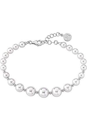 Majorica Damen Rund Weiß Perlen Armband von Länge 20 cm