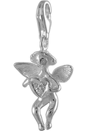 Melina Damen-Charm Anhänger Engelherz Zirkonia 925 Sterling Silber 1800492