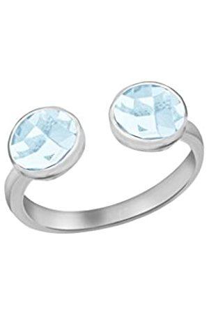 Tuscany Silver Damen Sterling Silber Hellblau Glasstein Torque Ring 6mm L