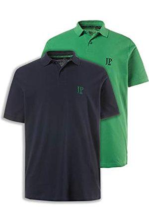 JP 1880 Herren große Größen bis 7XL, Poloshirts, 2er-Pack, Piqué, Seitenschlitze, Regular Fit, Navy