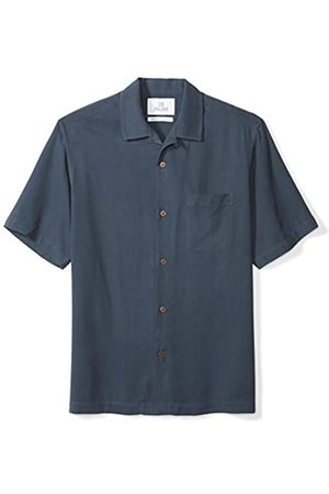 28 Palms Amazon-Marke: Relaxed-Fit Short-Sleeve 100% Silk Solid Camp button-down-shirts