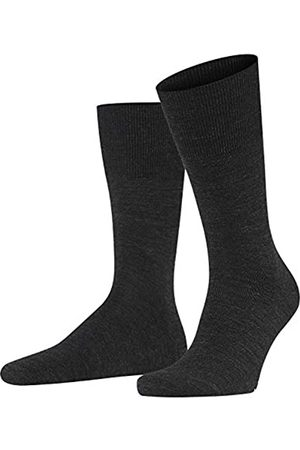 Falke Herren Socken Airport - Merinowoll-/Baumwollmischung, 1 Paar (Anthracite Melange 3080)