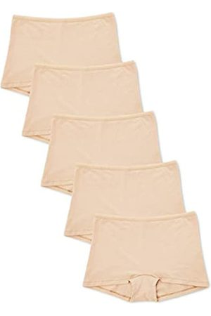 IRIS & LILLY Amazon-Marke: Damen Shorts aus Baumwolle, 5er-Pack, XL