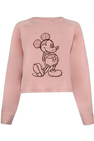 Disney Damen Mickey Sketch Cropped Crew Pullover