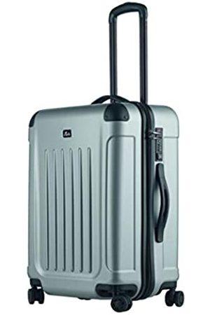 JSA Reisetrolley M, Rollkoffer aus ABS Kunststoff, Reisekoffer mit 4 doppelten 360° Leichtlaufrollen Koffer, 61 cm