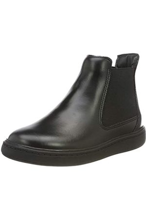 Clarks Jungen Street Edge K Chelsea Boots (Black Leather)