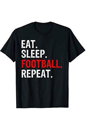 Eat Sleep Football Repeat Tee Co. Eat Sleep Football Repeat Gift T-Shirt