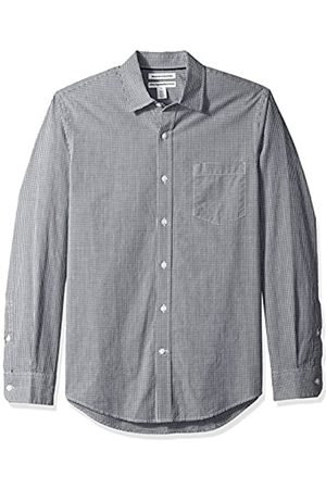 Amazon Slim-Fit Long-Sleeve Gingham Shirt Buttondown-Hemd, Black Mini