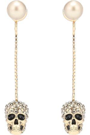 Alexander McQueen Ohrringe mit Kristallen und Zierperle