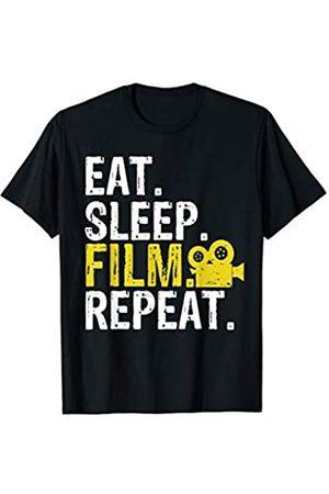Eat Sleep Film Repeat Tee Co. Eat Sleep Film Repeat Movie Actors Gift T-Shirt